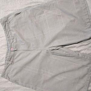 O'neill gray shorts plaid textured stitching sz 36